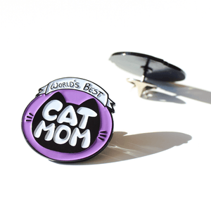 World's Best Cat Mom Pin - Merchandise - Monty Boy
