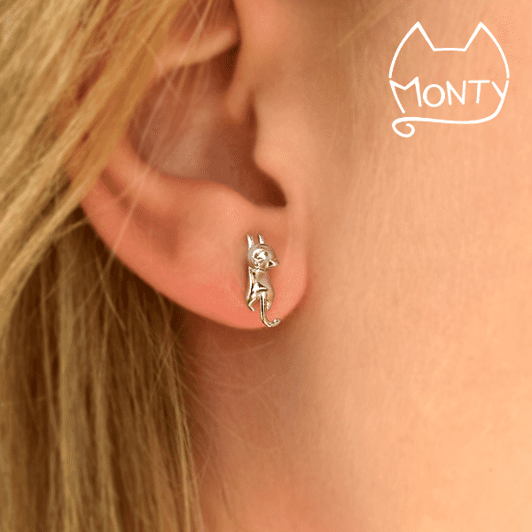 Cute - Cat Earrings - Jewelry - Monty Boy