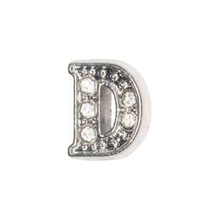 Silver & Crystal Letter D Charm - SPECIAL jewelry - Monty Boy