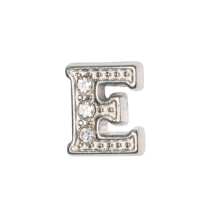 Silver & Crystal Letter E Charm - SPECIAL jewelry - Monty Boy