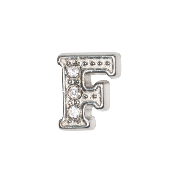 Silver & Crystal Letter F Charm - SPECIAL jewelry - Monty Boy