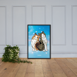 Monty and Molly Poster - Zodiac Sign GEMINI - Home/Decor - Monty Boy