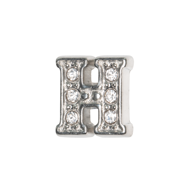 Silver & Crystal Letter H Charm - SPECIAL jewelry - Monty Boy
