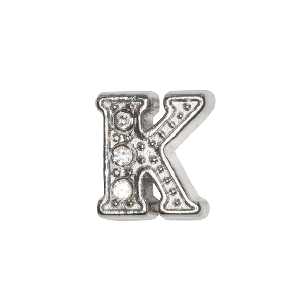 Silver & Crystal Letter K Charm - SPECIAL jewelry - Monty Boy