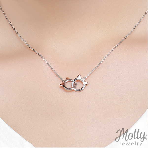 Bonded Forever Silver Necklace - Jewelry - Monty Boy