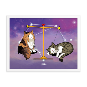 Monty and Molly Poster - Zodiac Sign LIBRA