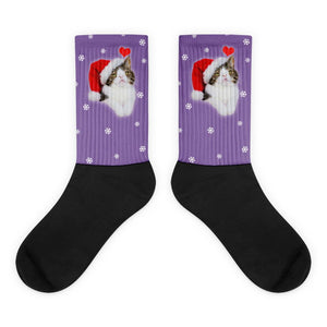 Santa Monty Socks - Purple - Merchandise - Monty Boy