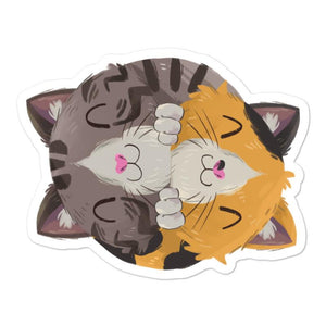 Happy as Fluff sticker - Accessoires - Monty Boy