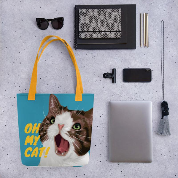 Oh My Cat! Tote bag blue - Apparel - Monty Boy