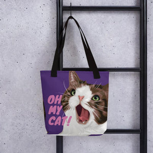 Oh My Cat! Tote bag purple - Apparel - Monty Boy