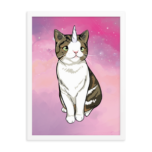 Monty Caticorn Poster - Signed