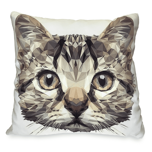 Origami Cat Toss Pillow Case - Merchandise - Monty Boy