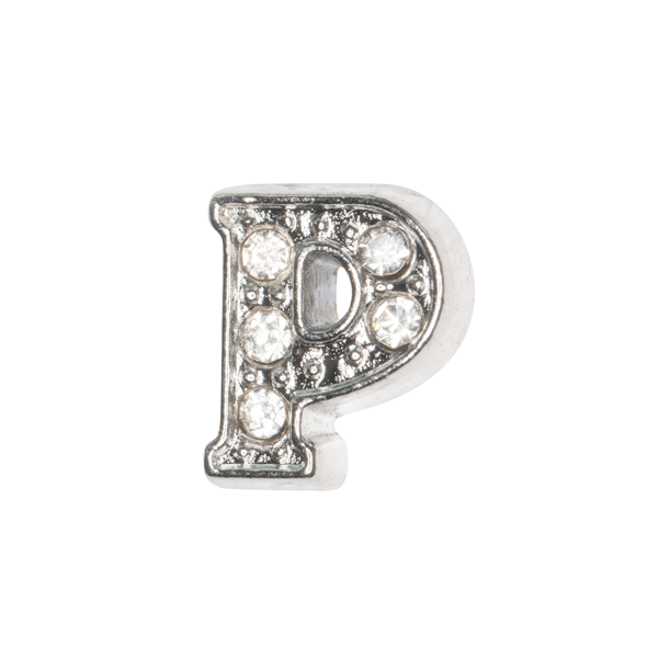 Silver & Crystal Letter P Charm - SPECIAL jewelry - Monty Boy