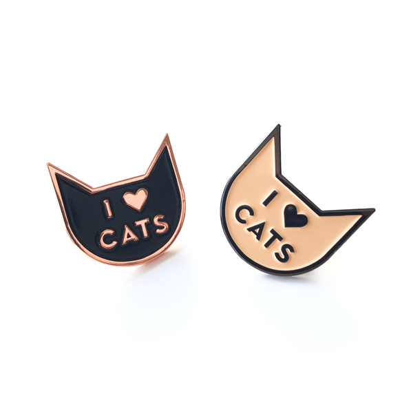 I Love Cats Pin Grey/Latte - Accessories - Monty Boy