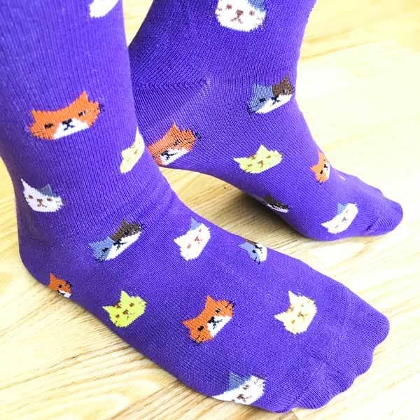 Purple Cat Socks - Apparel - Monty Boy
