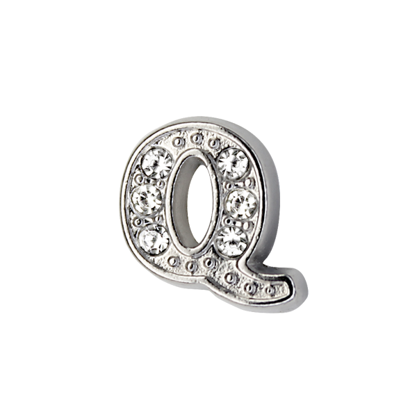 Silver & Crystal Letter Q Charm - SPECIAL jewelry - Monty Boy