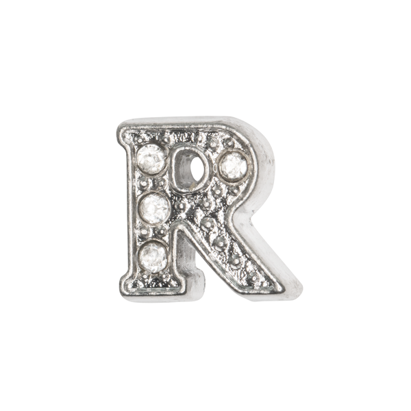 Silver & Crystal Letter R Charm - SPECIAL jewelry - Monty Boy