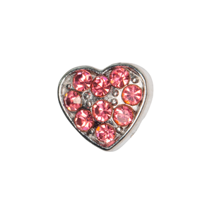 Rose Crystal Heart Charm - SPECIAL jewelry - Monty Boy