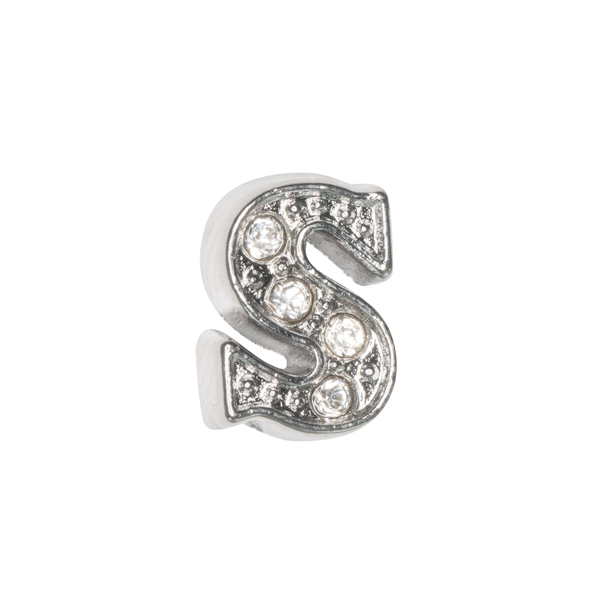Silver & Crystal Letter S Charm - SPECIAL jewelry - Monty Boy