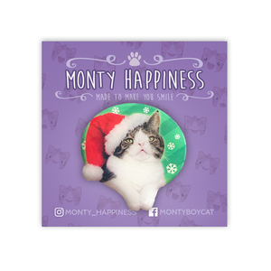 The Santa Monty Pin - Merchandise - Monty Boy