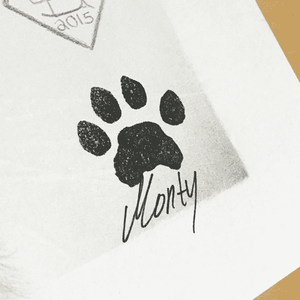 Signed drawing of Monty - Poster - Monty Boy