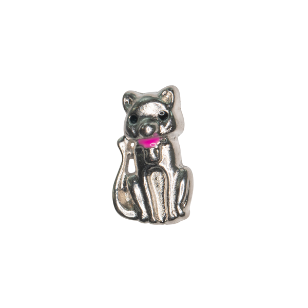 Sitting Cat with Pink Colar Charm - SPECIAL jewelry - Monty Boy