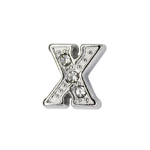 Silver & Crystal Letter X Charm - SPECIAL jewelry - Monty Boy