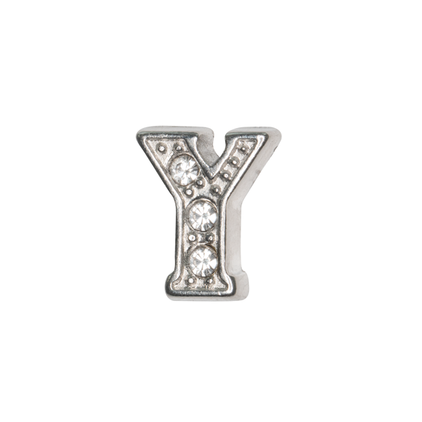 Silver & Crystal Letter Y Charm - SPECIAL jewelry - Monty Boy