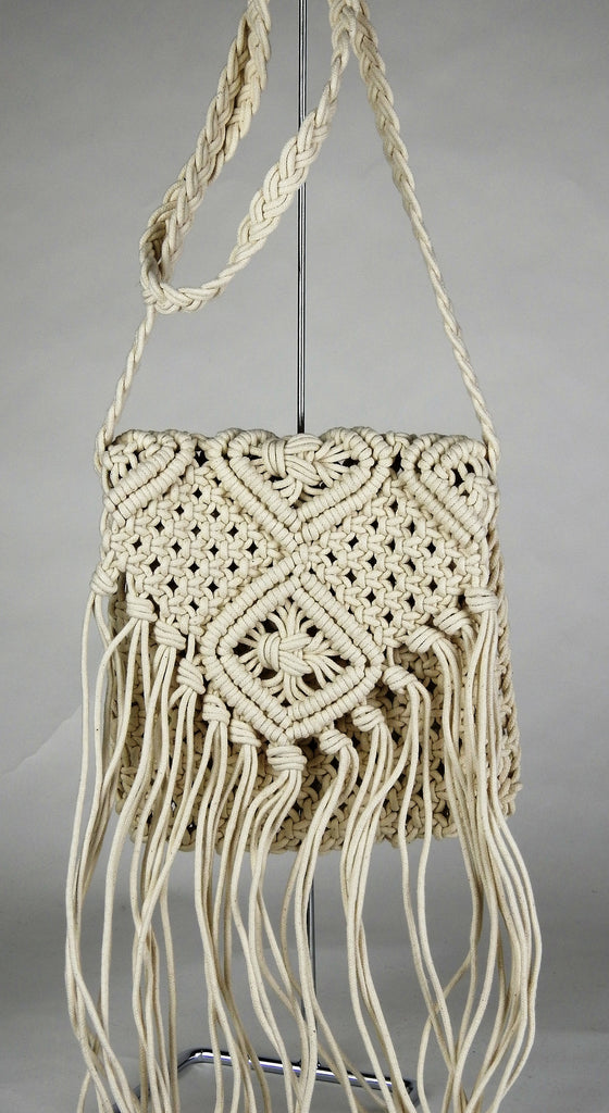 bag: Tassel Cotton Shoulder Bag