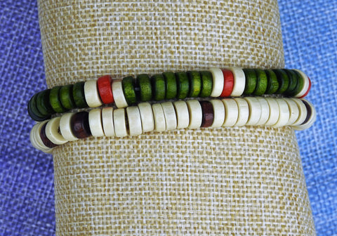 jewelry: Wood Bead Bracelet