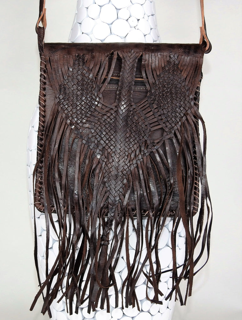 bag: Leather Tassel Vintage Bag
