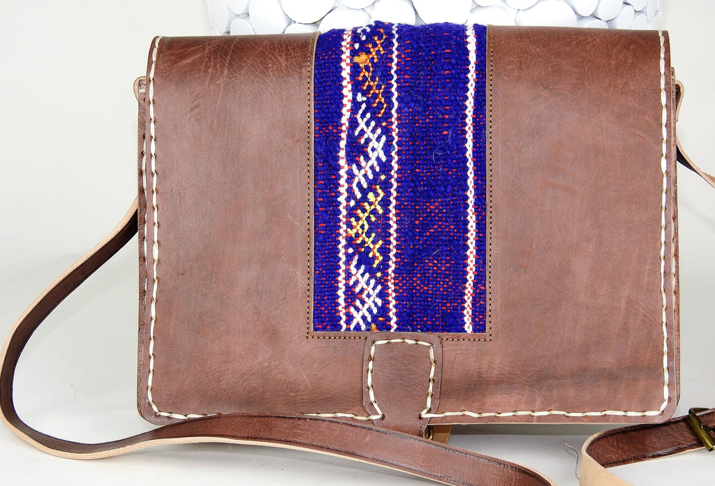 bag: Moroccan Leather Vintage Messager Bag