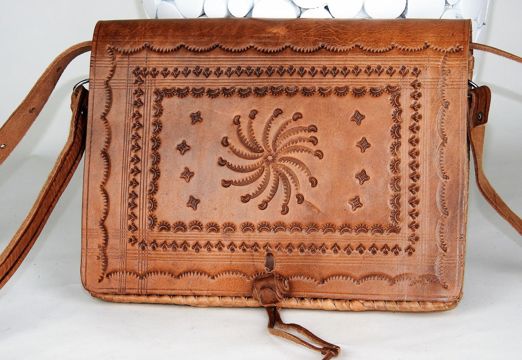 bag: Moroccan Leather Vintage Bag