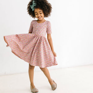 THE SHORT SLEEVE BALLET DRESS IN PRIM FLORAL