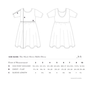 THE SHORT SLEEVE BALLET DRESS IN HERBAL STUDY