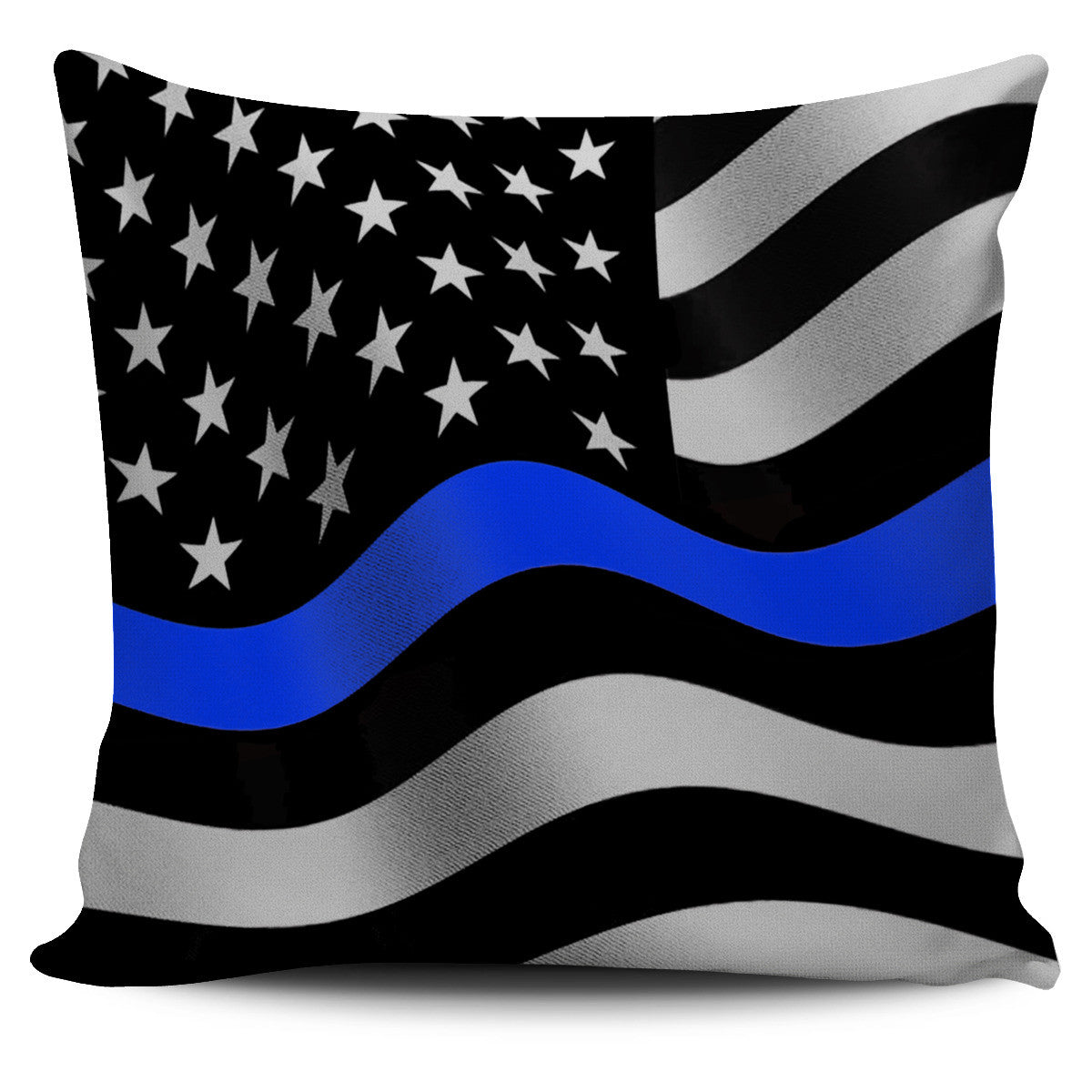 Thin Blue Line Pillow Covers