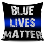 Back The Blue Pillow Covers