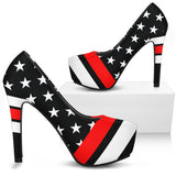 Thin Red Line Pumps