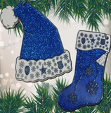 Christmas Police Badge Hat/Stocking Ornaments