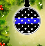 Thin Blue Line Stars N' Stripes Ornament
