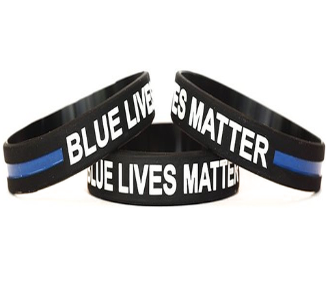 BLUE LIVES MATTER WRISTBANDS