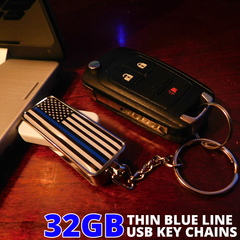 Thin Blue Line 32GB USB Keychain