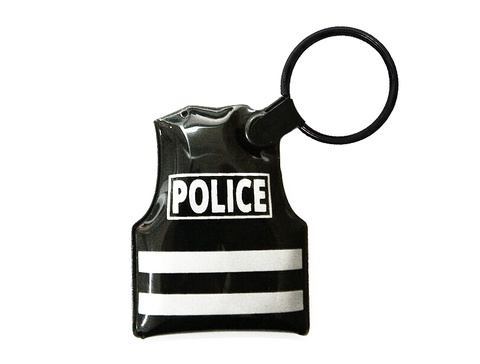 LED Police Vest Keychain (Black)