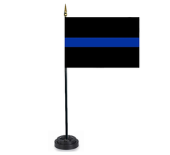 Thin Blue Line Desktop Flag (desktop)