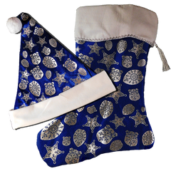 Hat/Stocking: Police Snowflake Badge