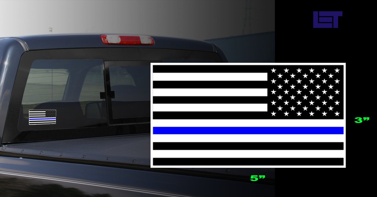 Thin Blue Line USA Decal REVERSED