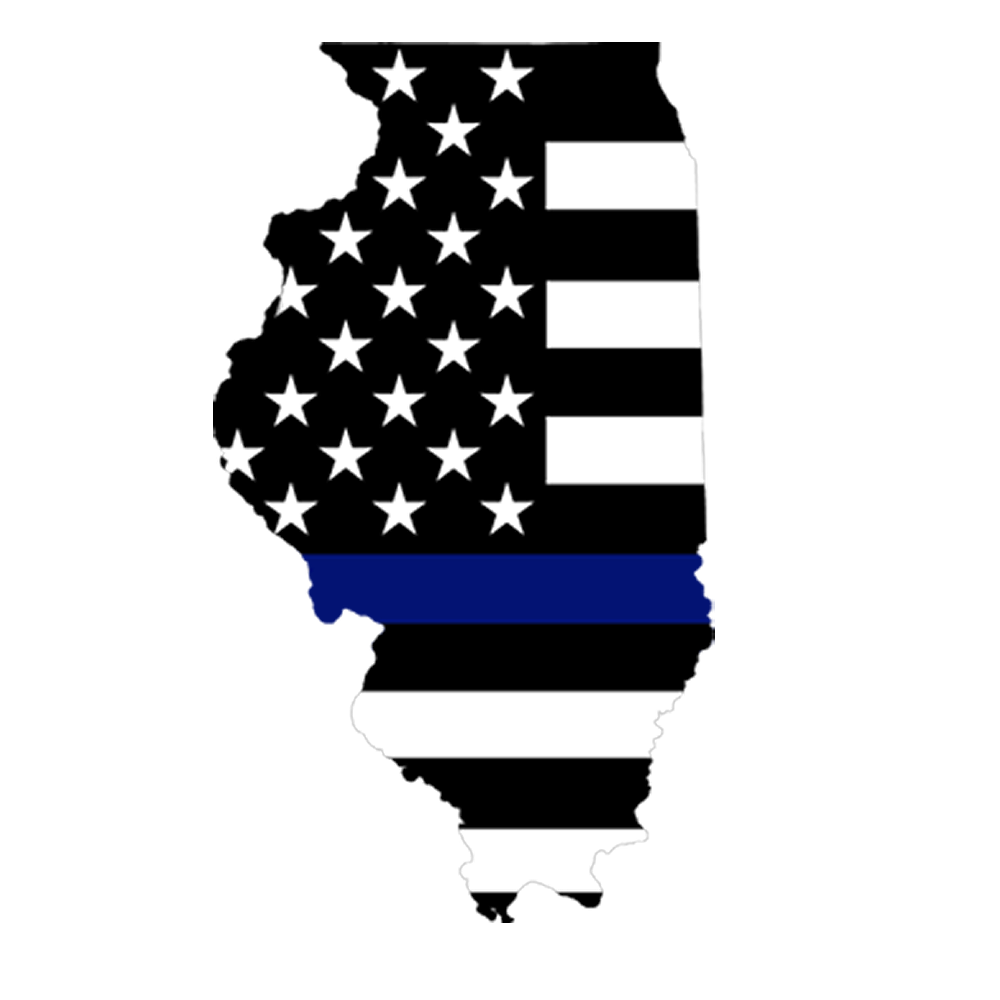 Refrigerator Magnet: Thin Blue Line Illinois