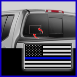 Thin Blue Line USA Decal