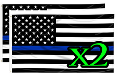 Thin Blue Line Flag (2 for 1)
