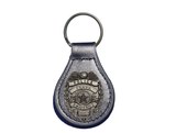 Police Leather Keychain